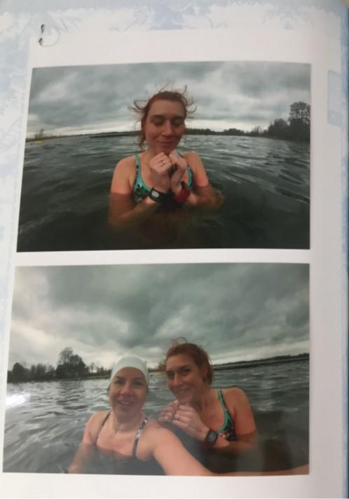 Vrienden zwemboek Frisse Duik waarin mensen met wie Susan Houbraken zwemt een bericht schrijven.